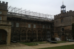thumbnail of scaffolding on old fashioned building
